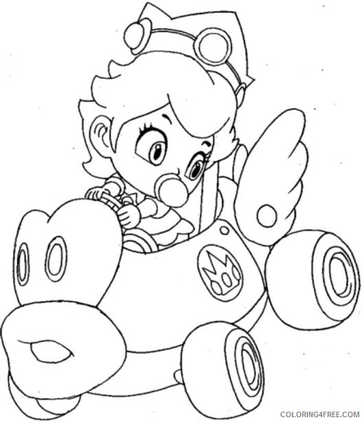 Super Mario Kart Coloring Pages Coloring4free Coloring4free Com