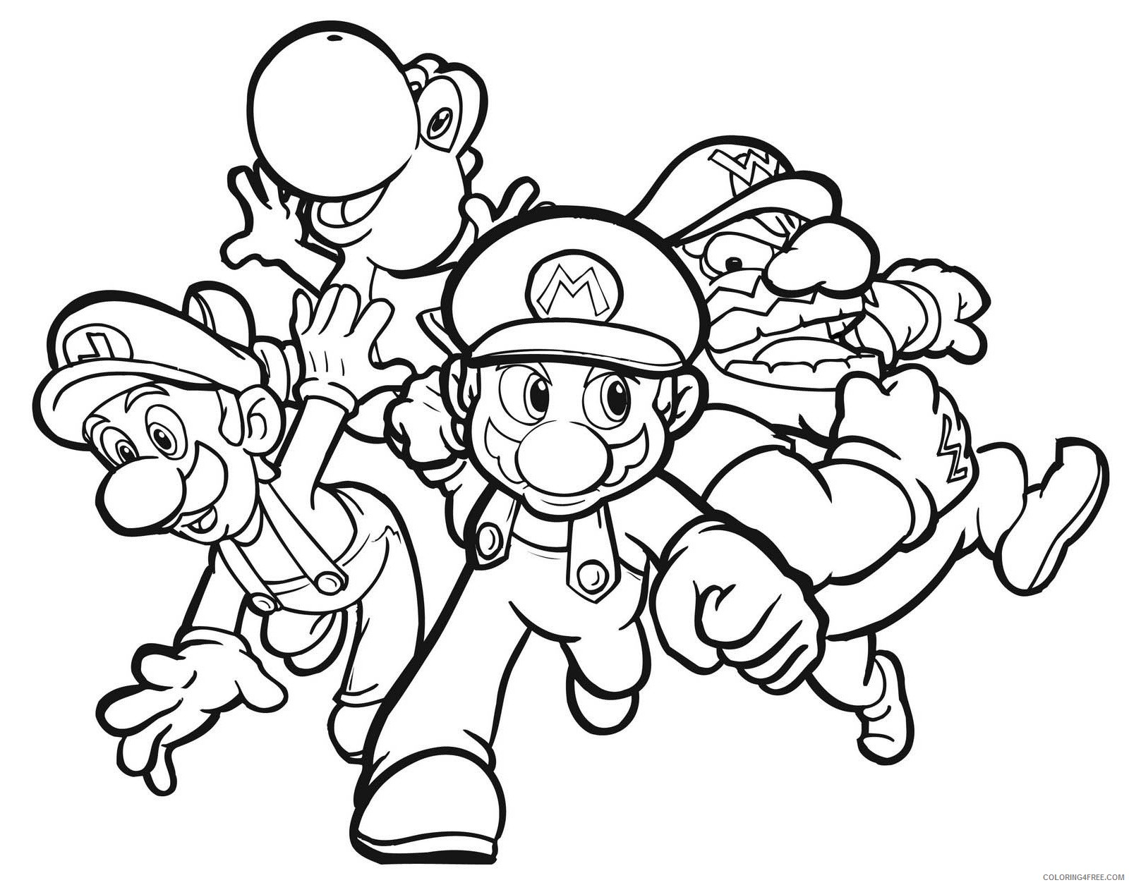 mario kart coloring pages to print Coloring4free ...