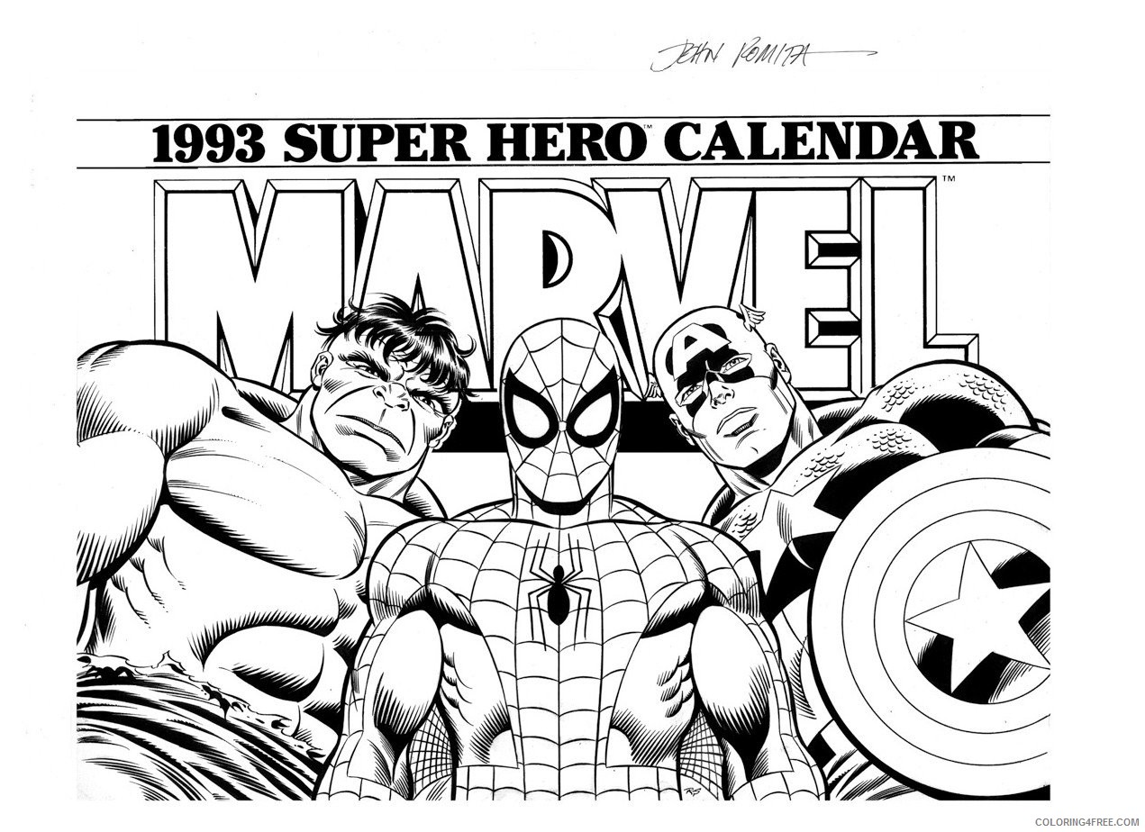 Free Superhero Coloring Pages Marvel Heroes Coloring Pages Fresh ... | 924x1271