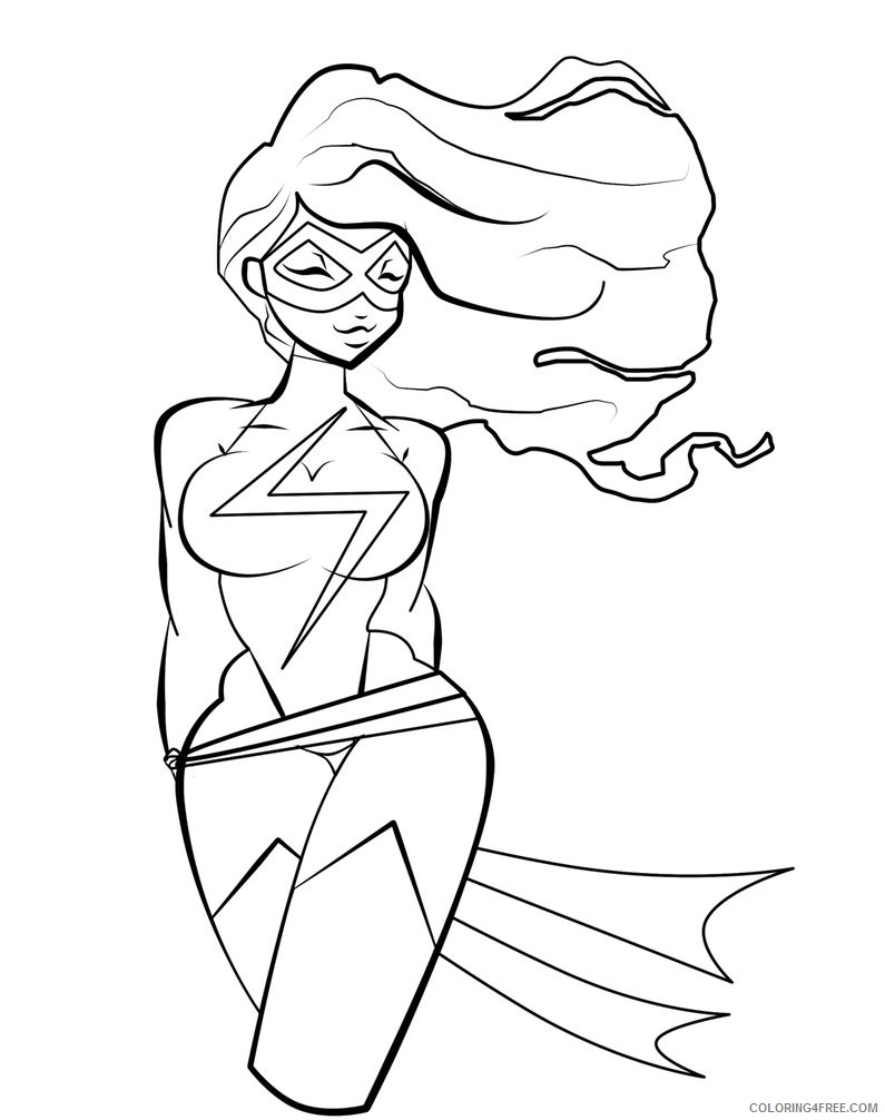 - Marvel Coloring Pages The Flash Girl Coloring4free - Coloring4Free.com