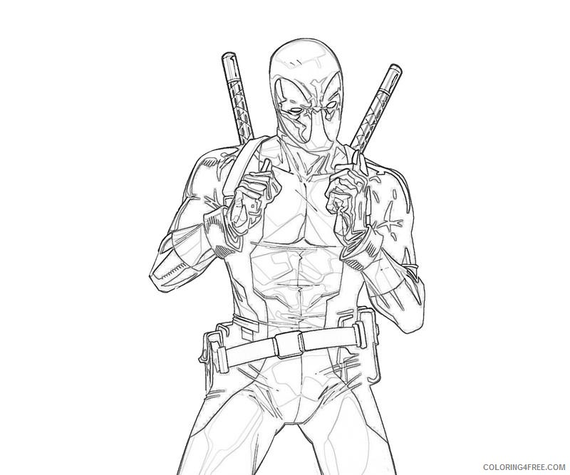 Marvel Deadpool Coloring Pages Coloring4free Coloring4free Com