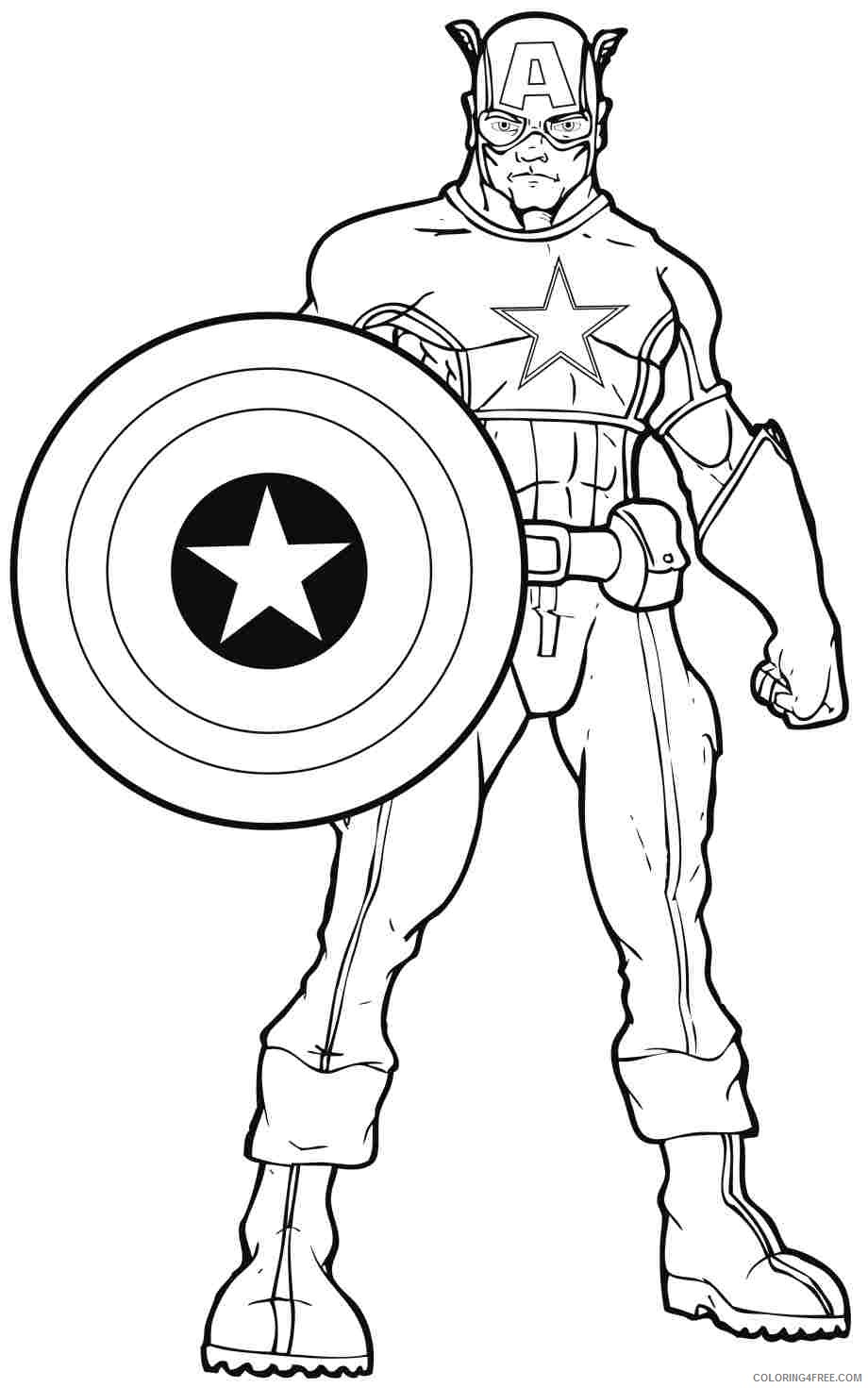 Marvel Superhero Coloring Pages Coloring4free Coloring4free Com