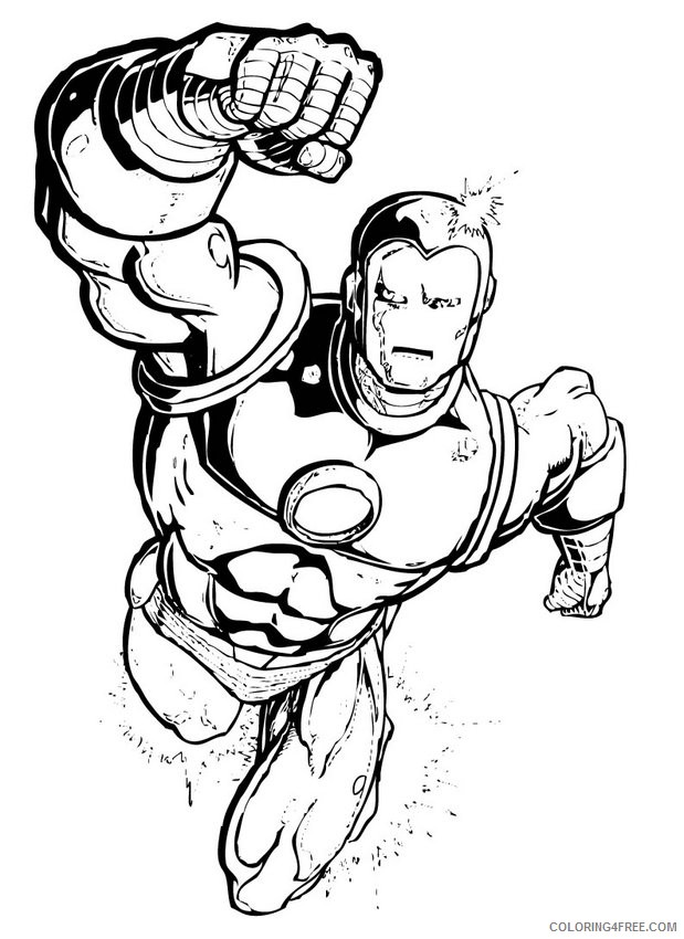 Marvel Superhero Coloring Pages Iron Man Coloring4free - Coloring4Free.com