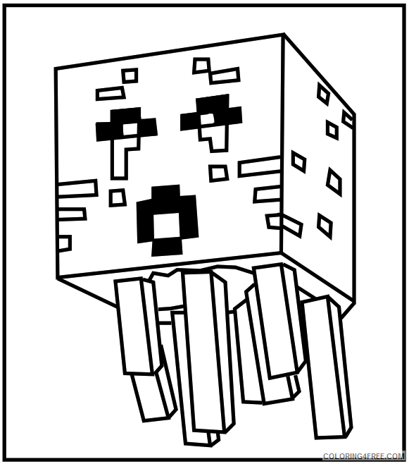 - Minecraft Coloring Pages Printable Coloring4free - Coloring4Free.com