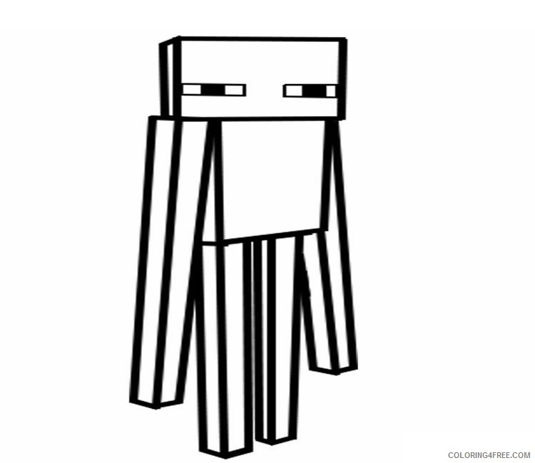- Minecraft Enderman Coloring Pages For Kids Coloring4free - Coloring4Free.com