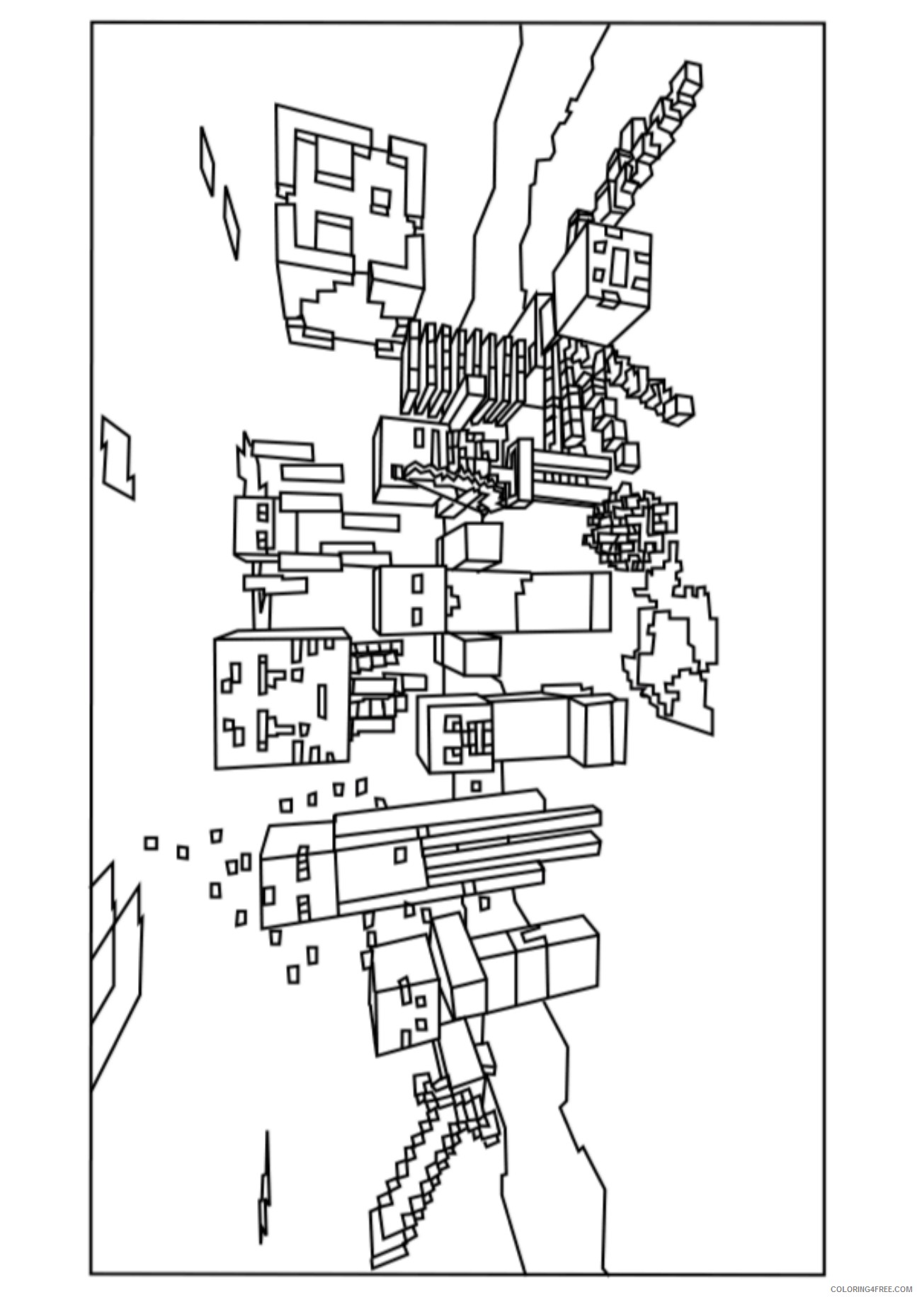 - Minecraft Mobs Coloring Pages Printable Coloring4free