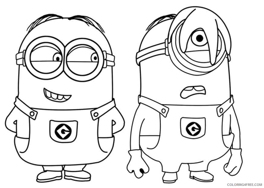 - Minions Coloring Pages Dave And Stuart Coloring4free - Coloring4Free.com
