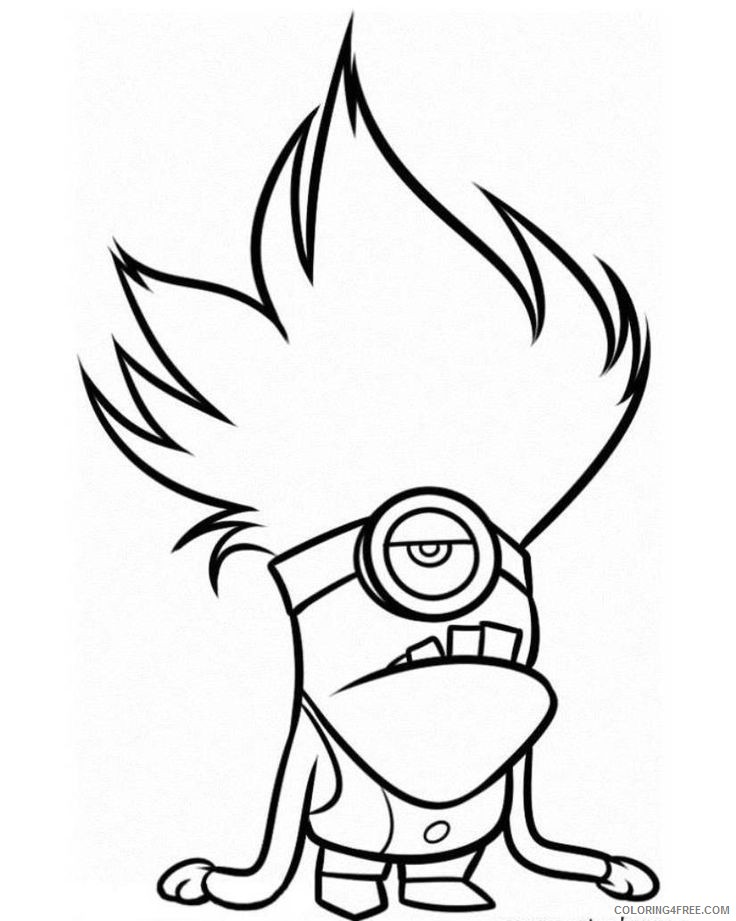 - Minions Coloring Pages Evil Minion Coloring4free - Coloring4Free.com