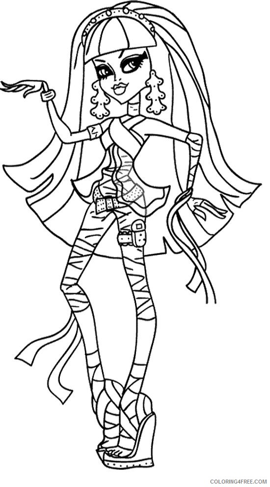 Monster High Coloring Pages Cleo De Nile Coloring4free - Coloring4Free.com