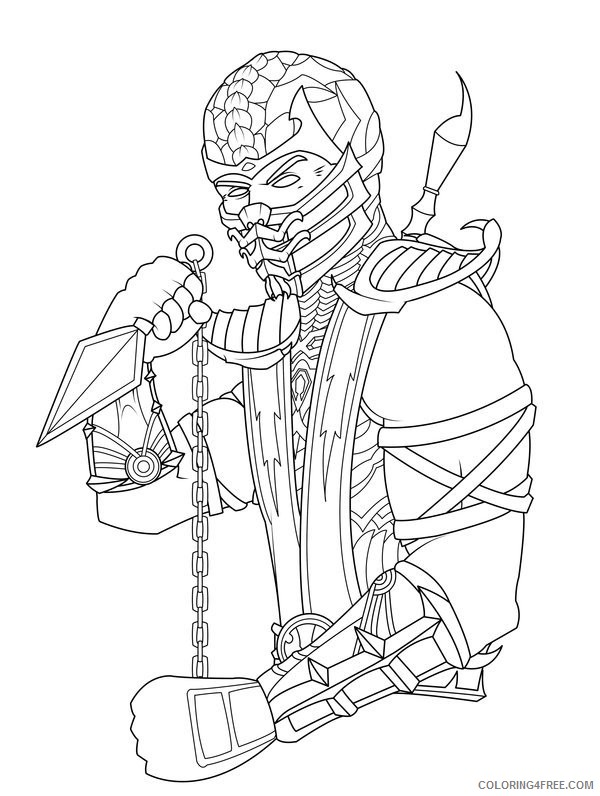 Mortal Kombat Coloring Pages Scorpion Coloring4free Coloring4free Com