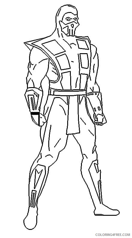 Mortal Kombat Coloring Pages Sub Zero Coloring4free