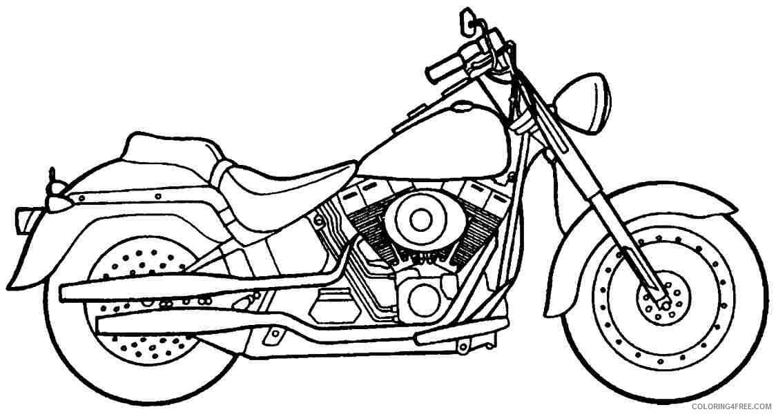 Motorcycle Coloring Pages Harley Davidson Coloring4free - Coloring4Free.com