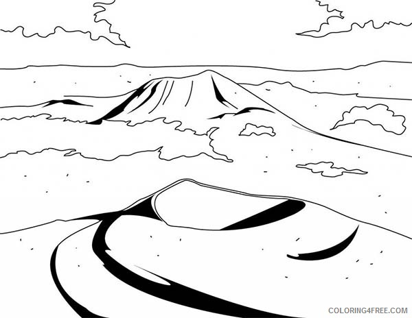 mountain landscape coloring pages Coloring4free ...