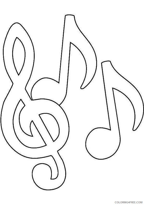 - Music Notes Coloring Pages For Kids Coloring4free - Coloring4Free.com