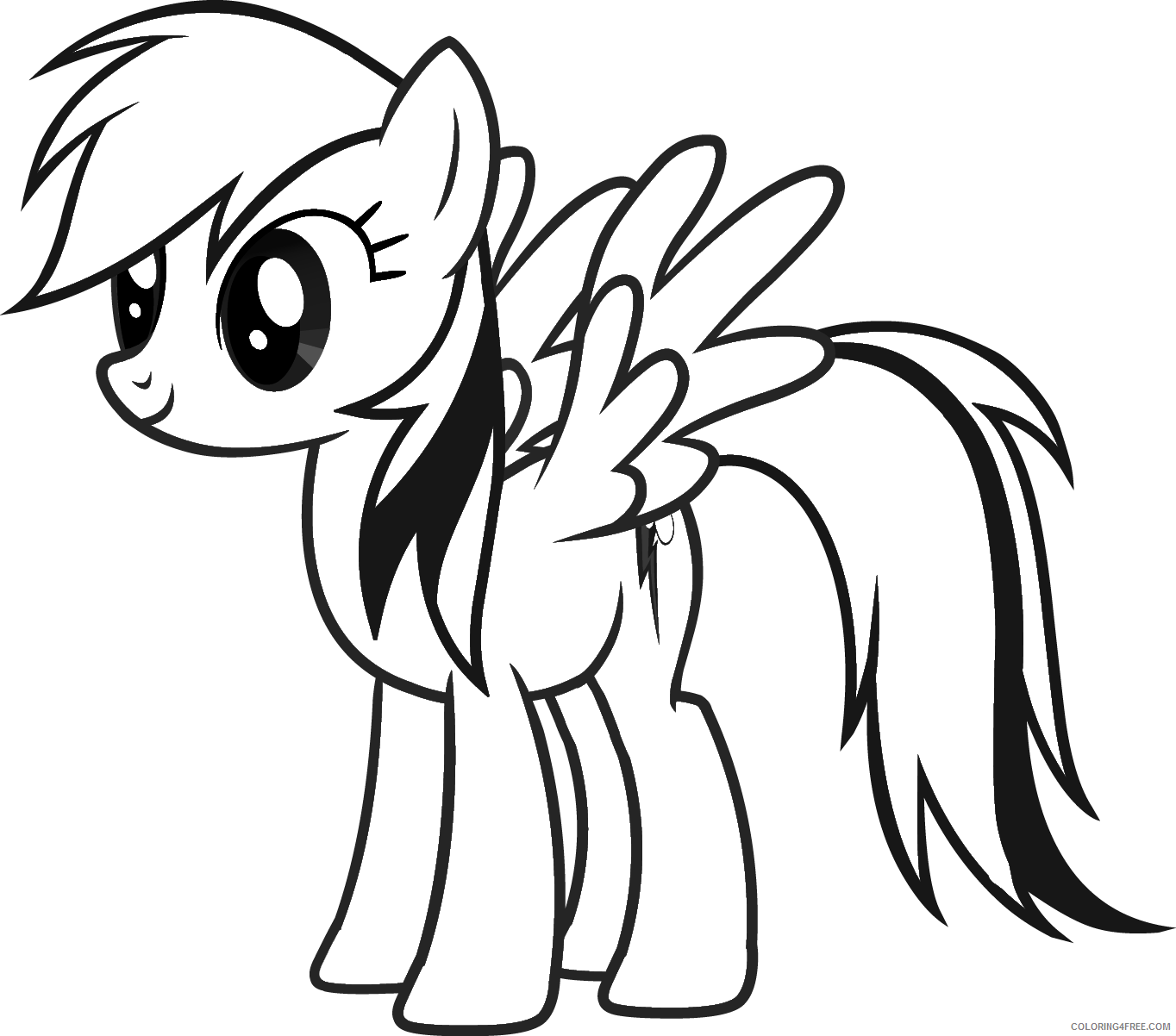 My Little Pony Coloring Pages Rainbow Dash Coloring4free Coloring4free Com