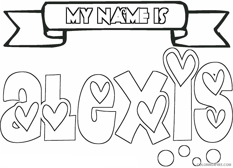 name coloring pages alexis Coloring4free - Coloring4Free.com