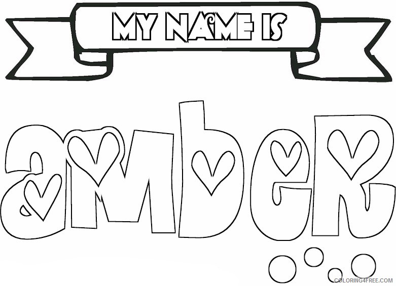 name coloring pages amber Coloring4free - Coloring4Free.com