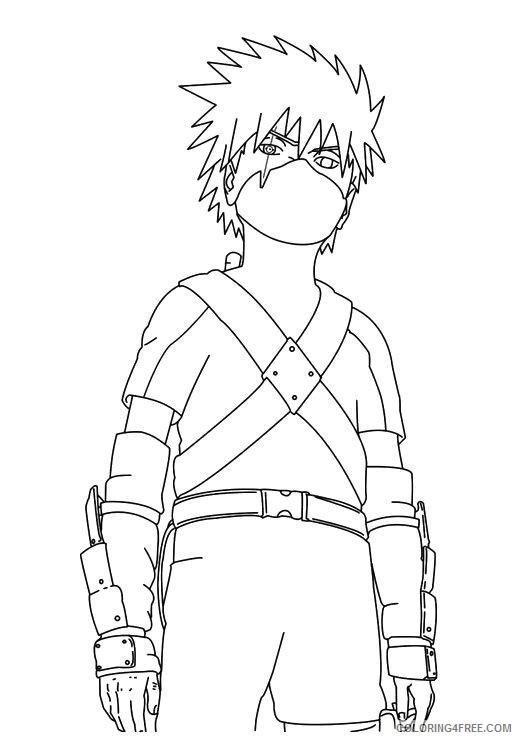 Naruto Coloring Pages Kakashi Kids Coloring4free Coloring4free Com