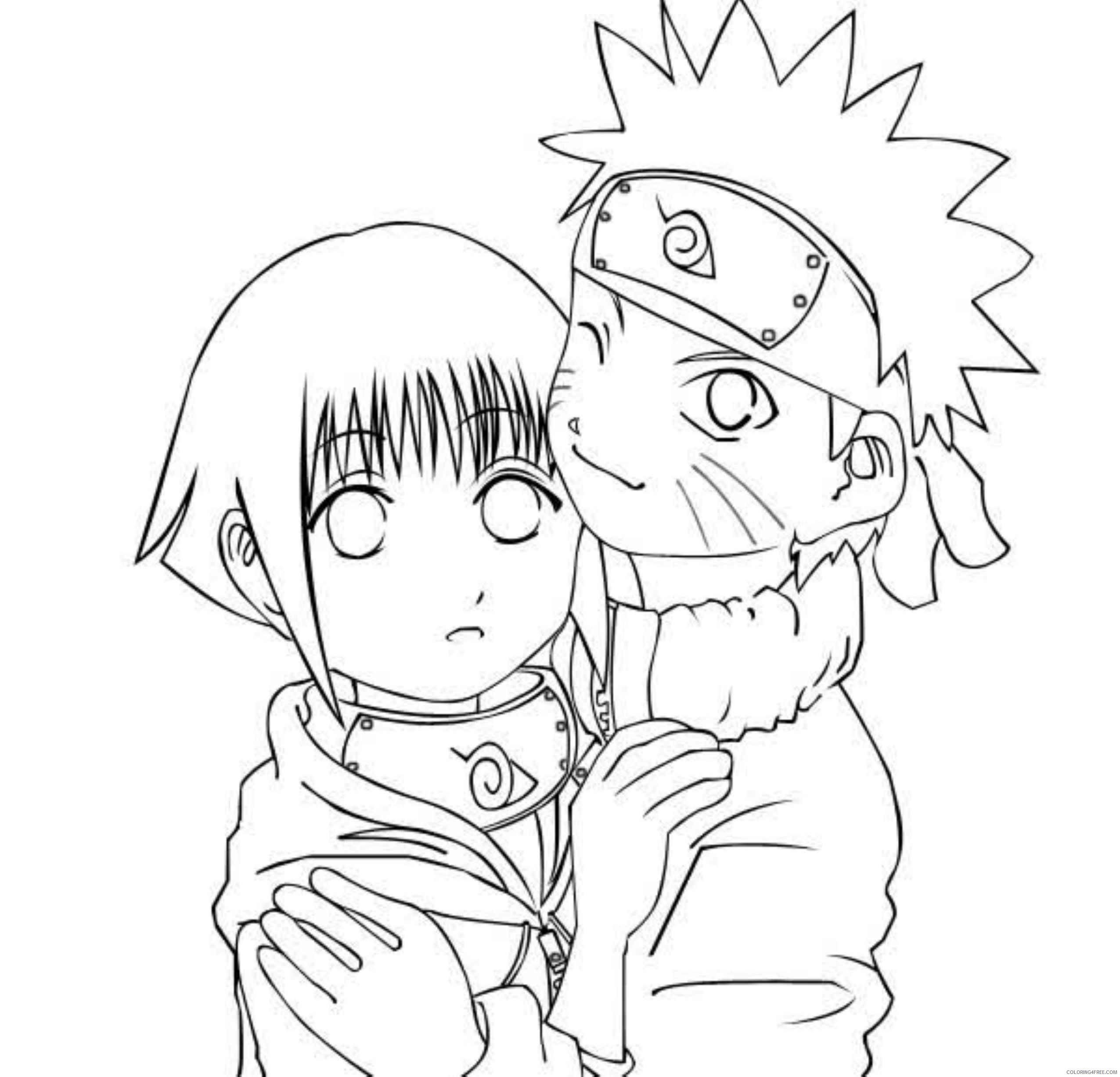 Naruto team 7 coloring pages | 2453x2551