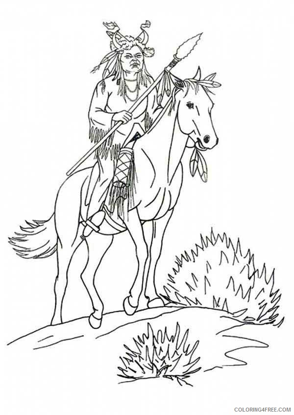 Indians keeping watch - Native American Adult Coloring Pages | 847x600