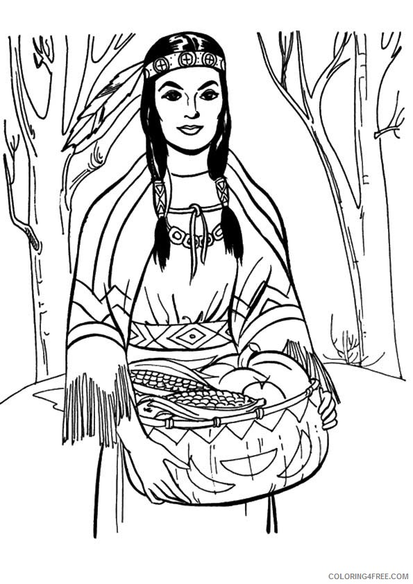 - Native American Girl Coloring Pages Coloring4free - Coloring4Free.com