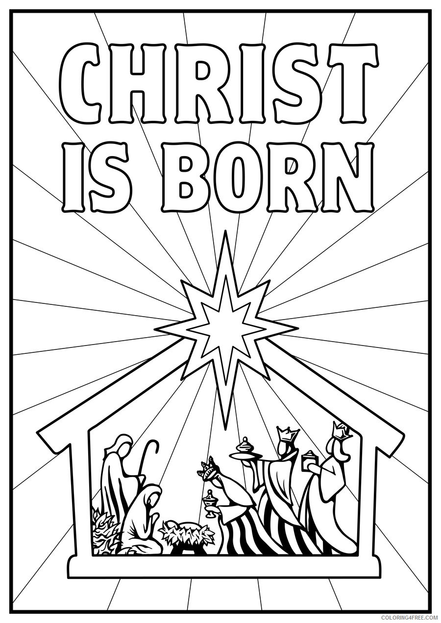 The Birth of Jesus coloring page   Free Printable Coloring Pages   1273x900