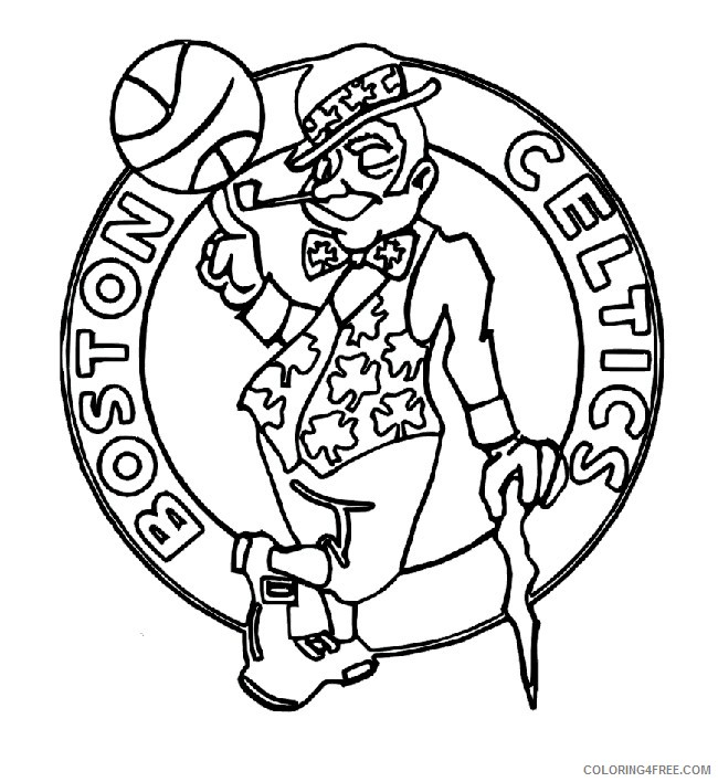 Nba Coloring Pages Boston Celtics