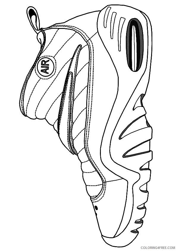 - Nba Coloring Pages Nike Air Jordan Shoe Coloring4free - Coloring4Free.com