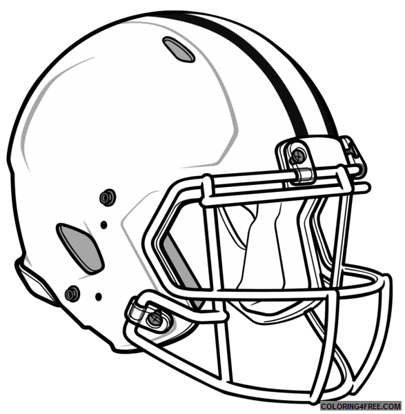 Nfl Coloring Pages Helmet Coloring4free Coloring4free Com