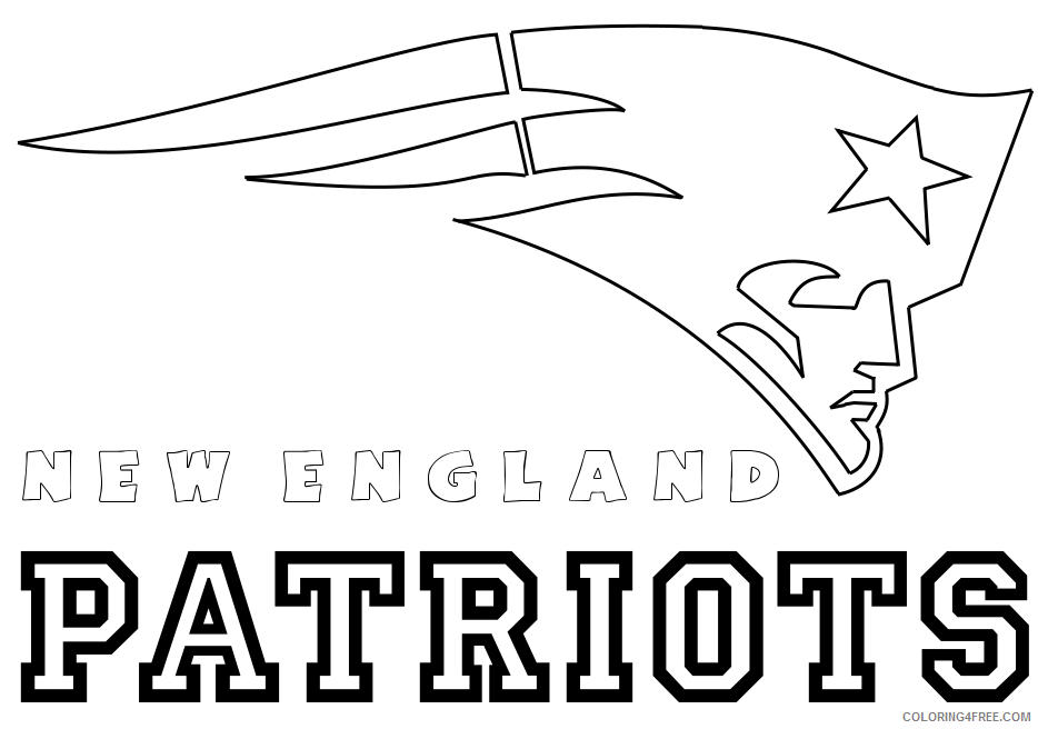 Nfl Coloring Pages Logo Coloring4free Coloring4free Com