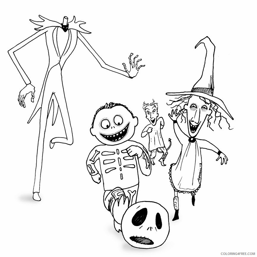 Nightmare Before Christmas Coloring Pages For Kids Coloring4free -  Coloring4Free.com