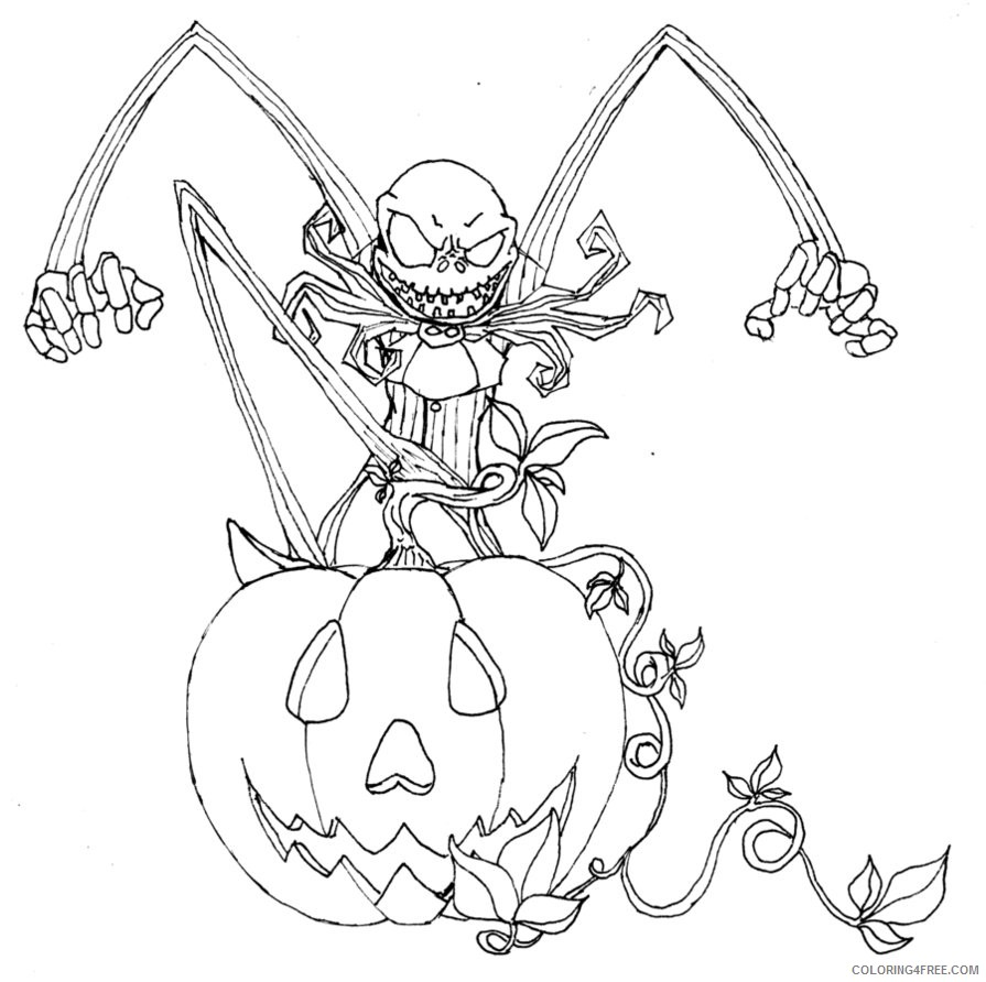 Free Printable Nightmare Before Christmas Coloring Pages - Best ... | 892x895