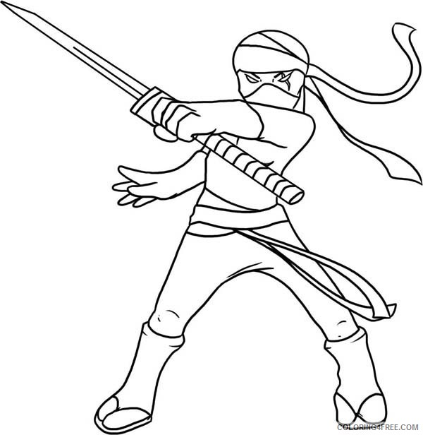 - Ninja Coloring Pages To Print Coloring4free - Coloring4Free.com