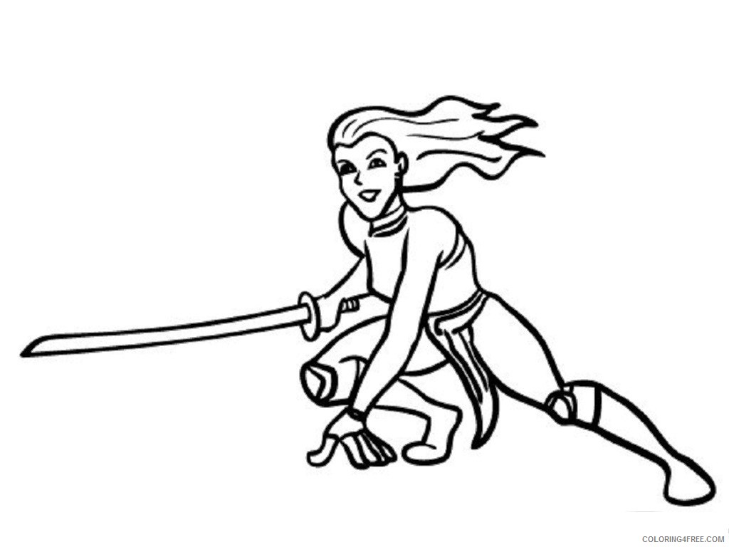 - Ninja Girl Coloring Pages Coloring4free - Coloring4Free.com