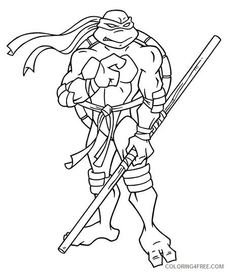 Rise of Teenage Mutant Ninja Turtles coloring pages | Print and ... | 536x447