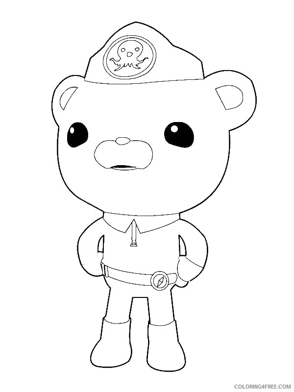 - Octonauts Coloring Pages Captain Barnacles Bear Coloring4free -  Coloring4Free.com