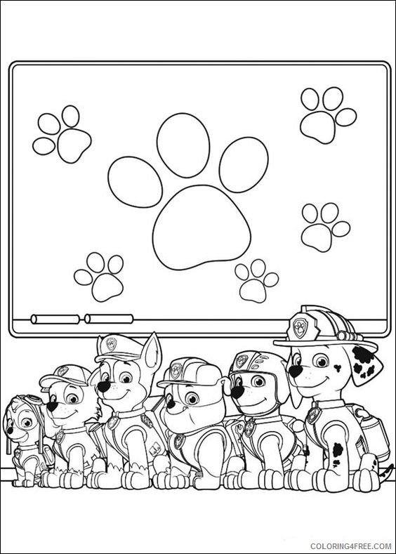- Paw Patrol Coloring Pages All Pups Coloring4free - Coloring4Free.com