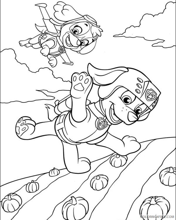 Paw Patrol Coloring Pages Skye And Zuma Flying Coloring4free -  Coloring4Free.com