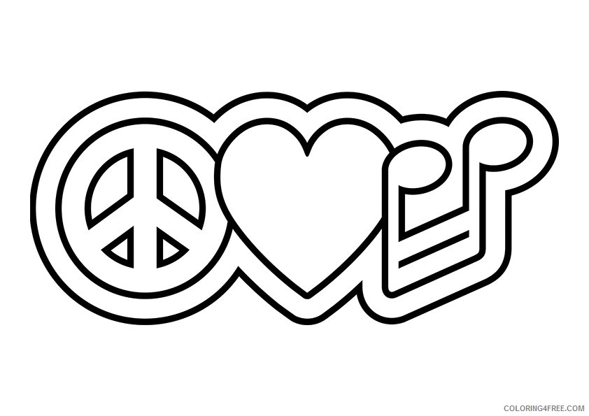 Top 25 Free Printable Peace Sign Coloring Pages Online | 595x842