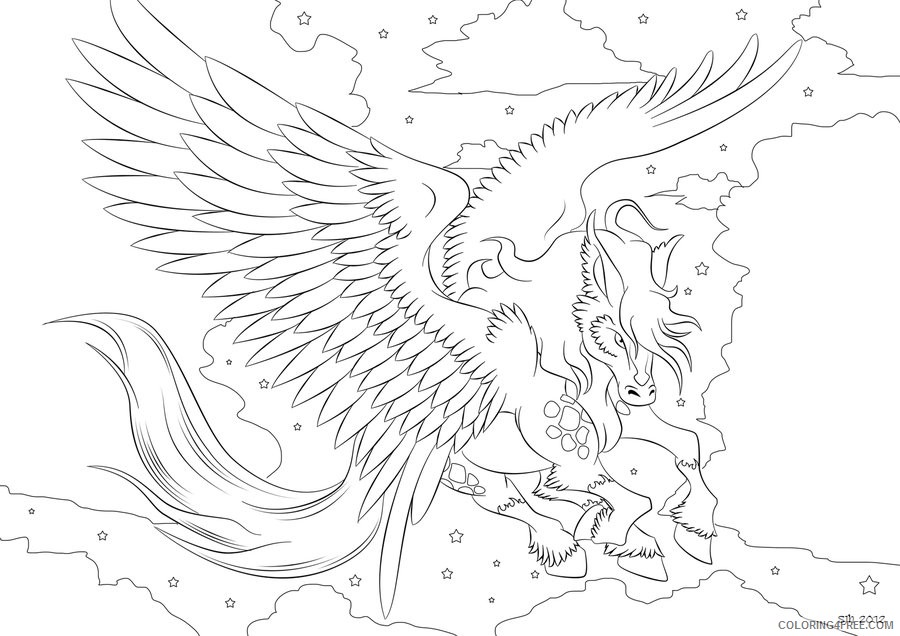 Pegasus Coloring Pages For Adults Coloring4free Coloring4free Com