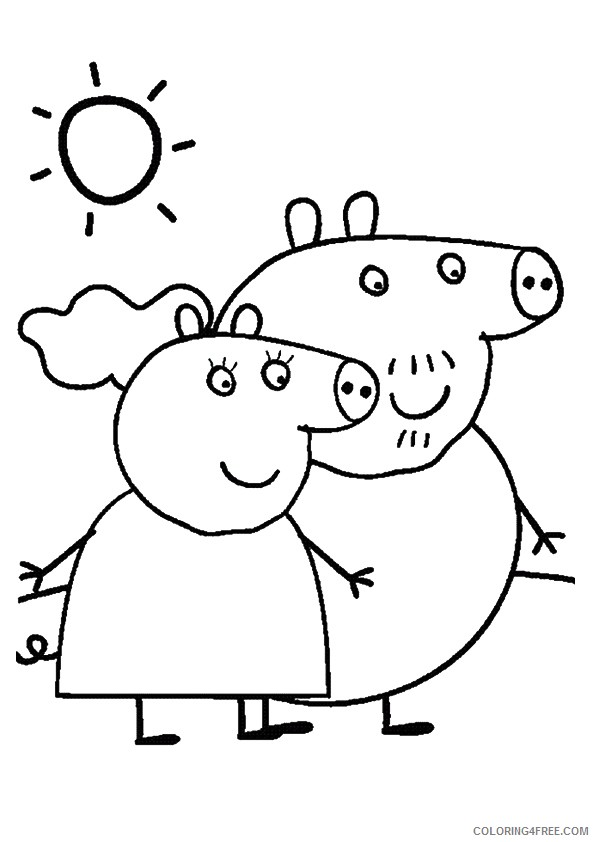 peppa pig coloring pages granny and grandpa Coloring4free ...