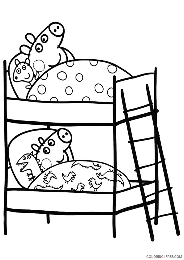 Peppa Pig Coloring Pages Christmas Eve Coloring4free Coloring4free Com