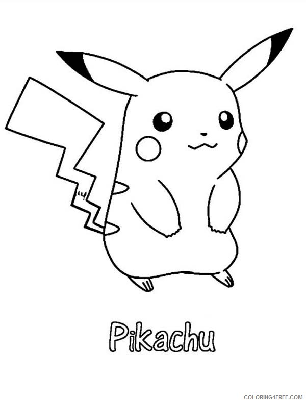Pikachu Coloring Pages Wearing Hat Coloring4free Coloring4free Com