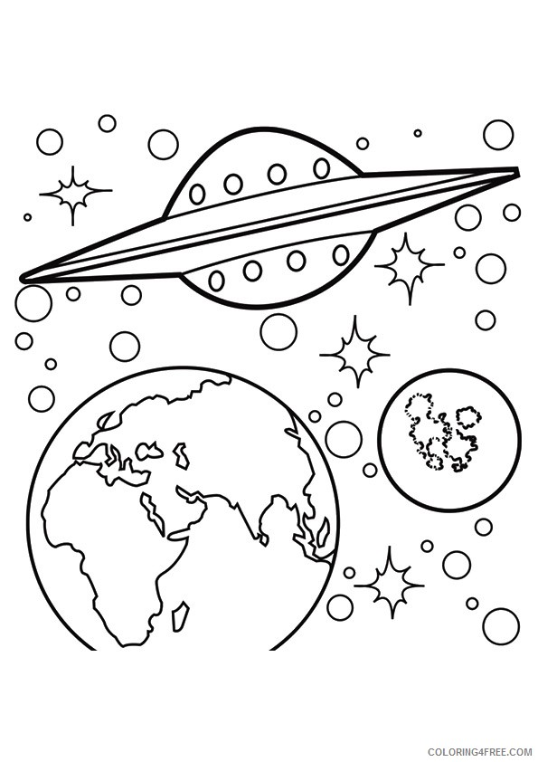 planet coloring pages for preschooler Coloring4free