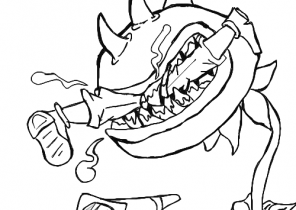 Plants Vs Zombies Coloring Pages Page 2 Of 2 Coloring4free Com