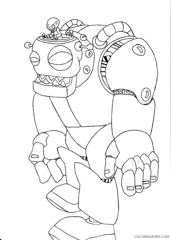- Plants Vs Zombies Coloring Pages Dr Zomboss Coloring4free -  Coloring4Free.com