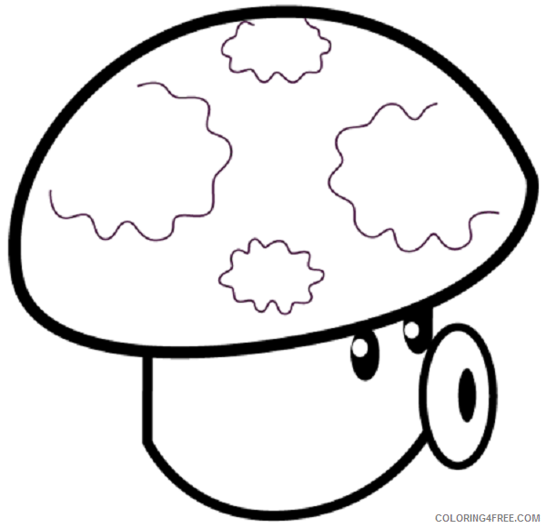 - Plants Vs Zombies Coloring Pages Puff Shroom Coloring4free -  Coloring4Free.com