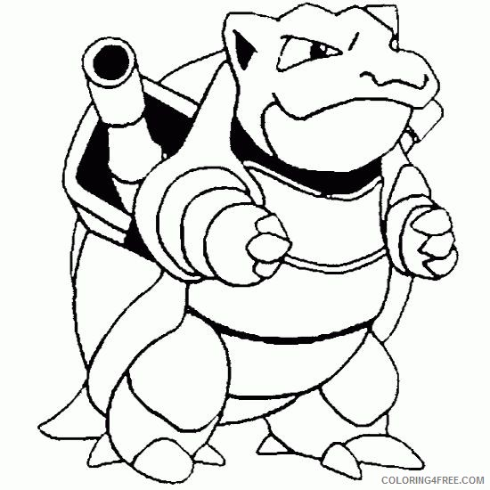Pokemon Coloring Pages Blastoise Coloring4free Coloring4free Com