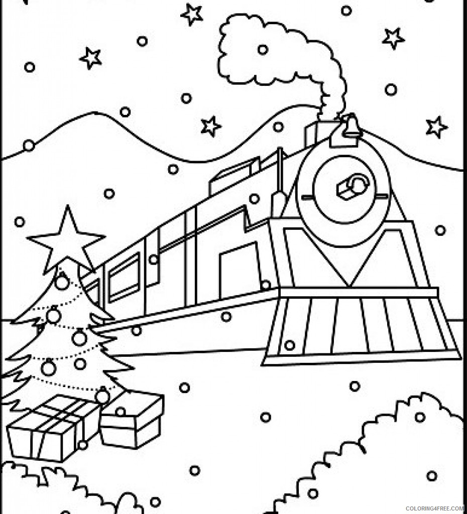 Polar Express Coloring Pages Printable Coloring4free Coloring4free Com