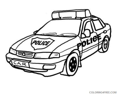 Police Car Coloring Pages Printable Coloring4free - Coloring4Free.com